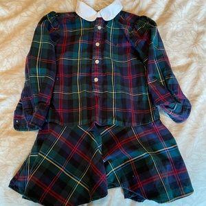 Ralph Lauren Plaid Girls Dress 3T